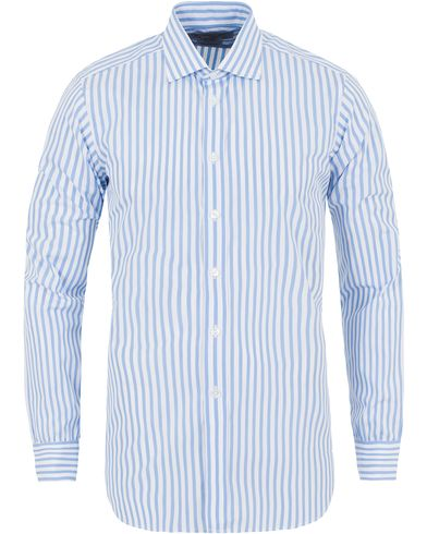 Turnbull & Asser Slim Fit Bengal Stripe Shirt Light Blue i gruppen Skjortor / Formella skjortor hos Care of Carl (13237711r)