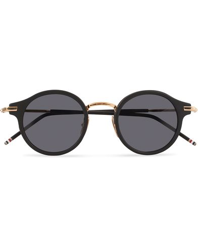 Thom Browne TB-807 Sunglasses Matte Black/Dark Grey  i gruppen Solbriller / Runde solbriller hos Care of Carl (13238510)