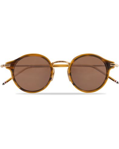 Thom Browne TB-807 Sunglasses Walnut/Dark Brown  i gruppen Solglasögon / Runda solglasögon hos Care of Carl (13238610)