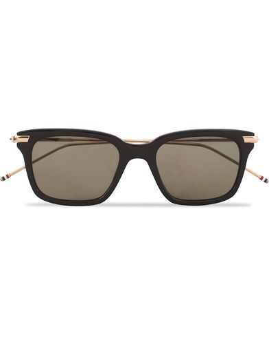 Thom Browne TB-701 Sunglasses Black/Gold Metal  i gruppen Solglasögon / Fyrkantiga solglasögon hos Care of Carl (13239010)