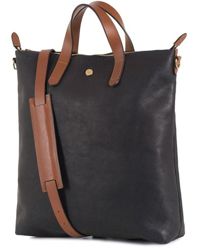Mismo Leather Shopper Bag Navy/Cuoio  i gruppen Vesker / Totebags hos Care of Carl (13241610)