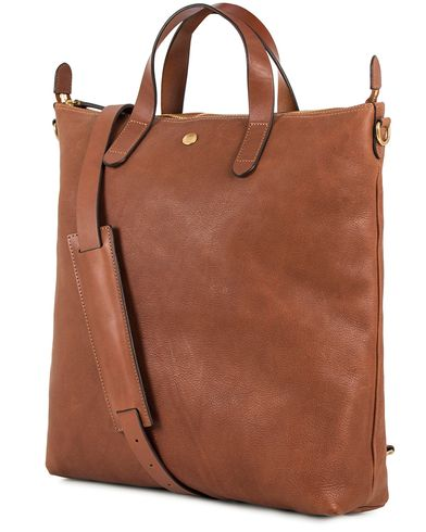 Mismo Leather Shopper Bag Tabac/Cuoio  i gruppen Väskor / Totebags hos Care of Carl (13241710)