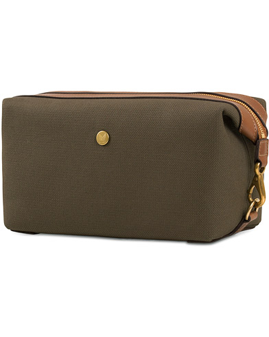 Mismo M/S Canvas Washbag Pine Green/Dark Brown  i gruppen Vesker / Toalettmapper hos Care of Carl (13242310)