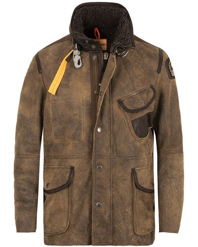 Parajumpers Steven Shearling Leather Jacket Brown i gruppen Jackor / Skinnjackor hos Care of Carl (13243511r)