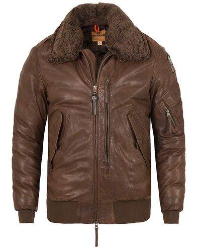 Parajumpers Josh Distressed Leather Jacket Brown i gruppen Kläder / Jackor / Skinnjackor hos Care of Carl (13243711r)