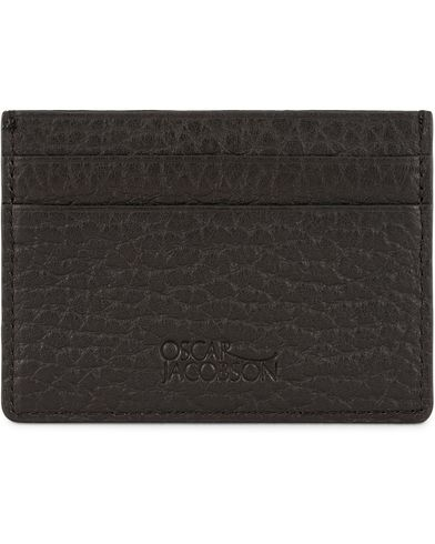 Oscar Jacobson Grained Leather Card Holder Black  i gruppen Assesoarer / Lommeb�ker hos Care of Carl (13247110)