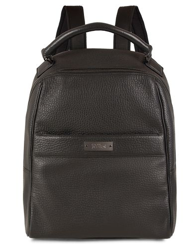 Oscar Jacobson Grained Leather Backpack Black  i gruppen Väskor / Ryggsäckar hos Care of Carl (13247210)