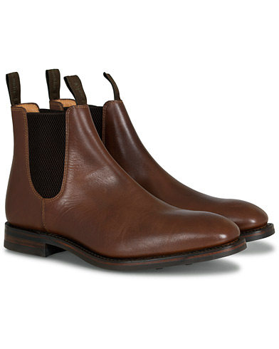 Loake 1880 Chatsworth Chelsea Boot Brown Waxy Leather i gruppen Skor / Kängor / Chelsea boots hos Care of Carl (13248111r)