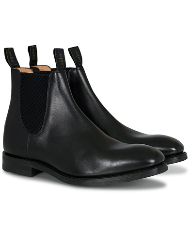 Loake 1880 Chatsworth Chelsea Boot Black Calf i gruppen Sko / Støvler / Chelsea boots hos Care of Carl (13248211r)