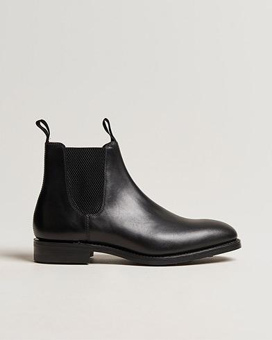 Loake 1880 Chatsworth Chelsea Boot Black Calf i gruppen Skor / Kängor / Chelsea boots hos Care of Carl (13248211r)