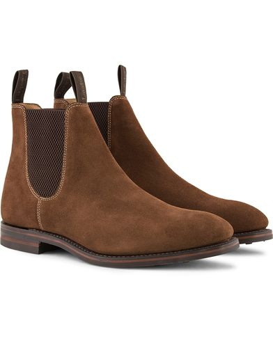Loake 1880 Chatsworth Chelsea Boot Brown Suede i gruppen Skor / Kängor / Chelsea boots hos Care of Carl (13248311r)