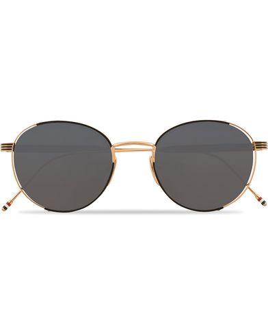 Thom Browne TB-106 Sunglasses Dark Grey/12 Carat Gold  i gruppen Accessoarer / Solglasögon / Runda solglasögon hos Care of Carl (13249110)