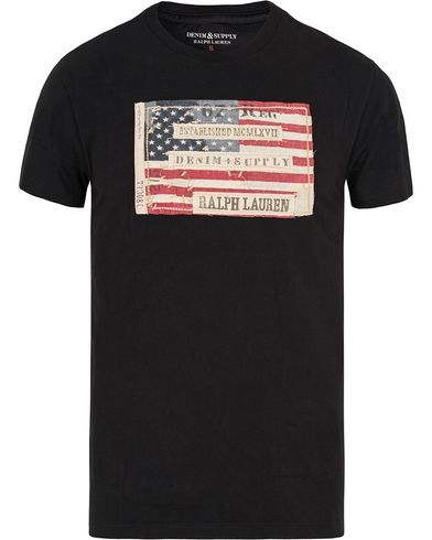 Denim & Supply Ralph Lauren Crew Neck Flag Tee Polo Black i gruppen T-Shirts / Kortärmade t-shirts hos Care of Carl (13249511r)