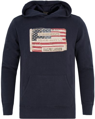 Denim & Supply Ralph Lauren Popover Flag Hood Classic Navy i gruppen Tröjor / Huvtröjor hos Care of Carl (13249711r)
