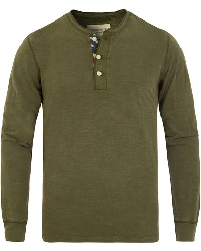Denim & Supply Ralph Lauren Henley Flag Placket Olive Green i gruppen Gensere / Bestefartrøyer hos Care of Carl (13249811r)