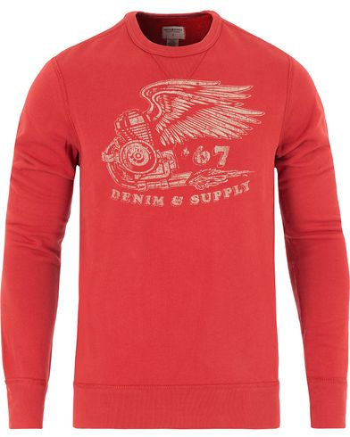 Denim & Supply Ralph Lauren Engine Eagle Print Sweatshirt Red i gruppen Klær / Gensere / Sweatshirts hos Care of Carl (13249911r)