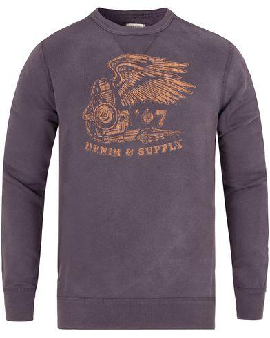 Denim & Supply Ralph Lauren Engine Wings Print Sweatshirt Antique Blue i gruppen Tröjor / Sweatshirts hos Care of Carl (13250011r)