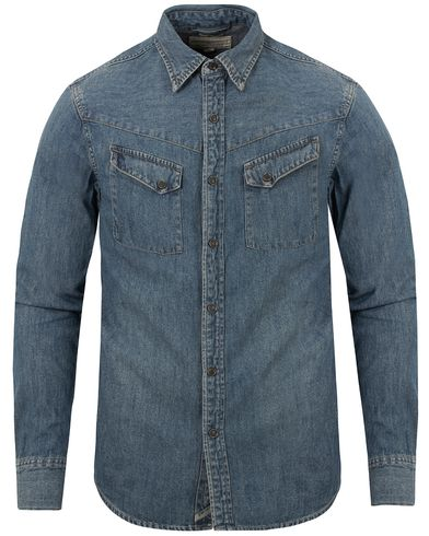 Denim & Supply Ralph Lauren Denim Shirt Light Wash i gruppen Klær / Skjorter / Jeansskjorter hos Care of Carl (13250811r)