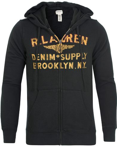 Denim & Supply Ralph Lauren Full Zip Hoodie Faded Black i gruppen Kläder / Tröjor / Huvtröjor hos Care of Carl (13251911r)