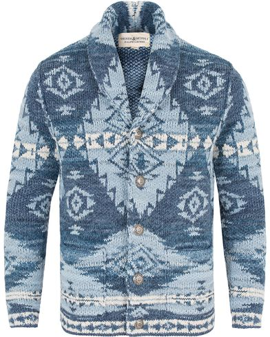 Denim & Supply Ralph Lauren Shawl Cardigan Blue Multi i gruppen Kläder / Tröjor / Cardigans hos Care of Carl (13252011r)