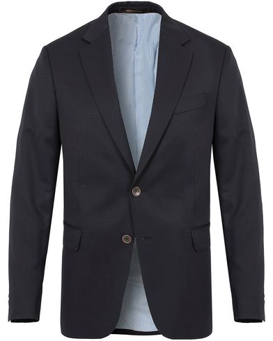 Oscar Jacobson Falke Elbow Patch Club Blazer Navy i gruppen Kläder / Kavajer / Enkelknäppta kavajer hos Care of Carl (13253011r)