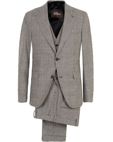Oscar Jacobson Egel 3 Piece Split Suit Grey/White i gruppen Kostymer hos Care of Carl (13253111r)