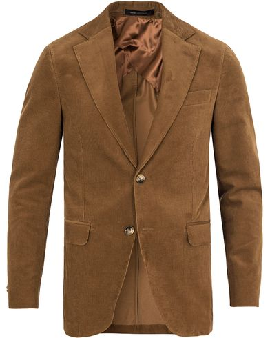 Oscar Jacobson Egel Corduroy Blazer Light Brown i gruppen Kavajer / Enkelknäppta kavajer hos Care of Carl (13253411r)