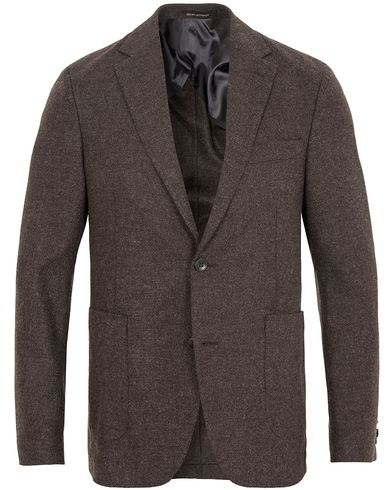 Oscar Jacobson Einar Structure Blazer Dark Brown i gruppen Kavajer / Uddakavajer hos Care of Carl (13254811r)