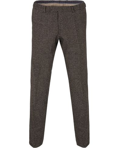 Oscar Jacobson Damien Lambswool Trousers Dark Brown i gruppen Byxor / Kostymbyxor hos Care of Carl (13255611r)