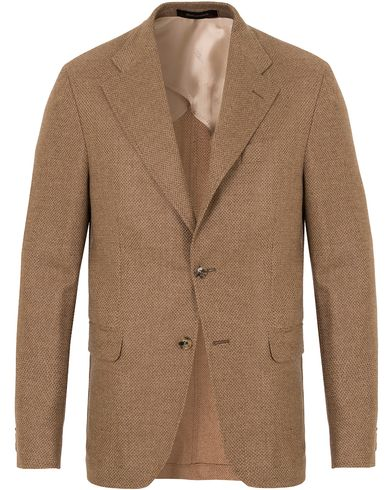 Oscar Jacobson Fellow Loro Piana Blazer Camel Brown i gruppen Dressjakker / Blazere hos Care of Carl (13256011r)