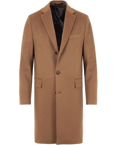 Oscar Jacobson Savile Row Loro Piana Storm System Coat Dark Brown i gruppen Jakker / Frakker hos Care of Carl (13256411r)