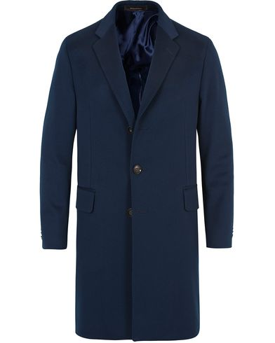 Oscar Jacobson Snyder Loro Piana Coat Navy i gruppen Jackor / Rockar hos Care of Carl (13256511r)