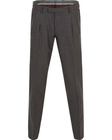 Oscar Jacobson David Double Plated Trousers Dark Grey i gruppen Bukser / Flanellbukser hos Care of Carl (13256711r)
