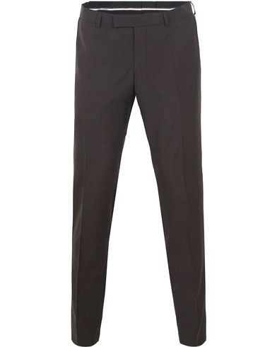 Oscar Jacobson Damien Wool Trousers Brown i gruppen Kläder / Byxor / Kostymbyxor hos Care of Carl (13256911r)