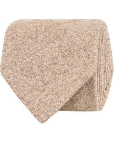 Oscar Jacobson Flannel Roll Edge 8,5 cm Tie Camel Brown  i gruppen Assesoarer / Slips hos Care of Carl (13257810)