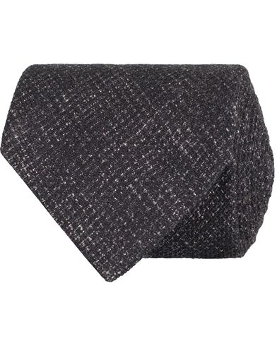 Oscar Jacobson Structure 8,5 cm Tie Grey  i gruppen Accessoarer / Slipsar hos Care of Carl (13258310)