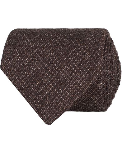 Oscar Jacobson Structure 8,5 cm Tie Brown  i gruppen Accessoarer / Slipsar hos Care of Carl (13258410)