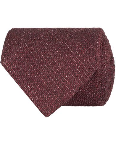 Oscar Jacobson Structure 8,5 cm Tie Winered  i gruppen Accessoarer / Slipsar hos Care of Carl (13258510)