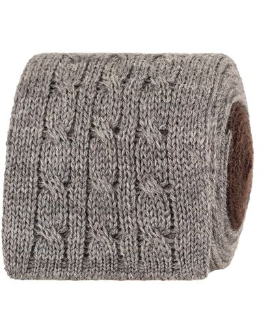 Oscar Jacobson Cable Knitted 7 cm Tie Grey/Brown  i gruppen Accessoarer / Slipsar hos Care of Carl (13258710)