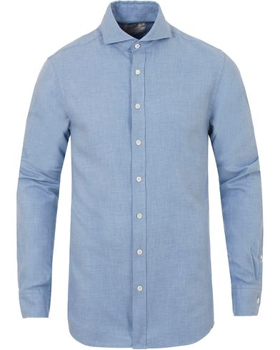 Oscar Jacobson Herman 2 Flannel Shirt Light Blue i gruppen Skjortor / Flanellskjortor hos Care of Carl (13260111r)
