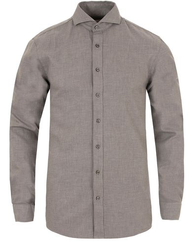 Oscar Jacobson Herman 2 Flannel Shirt Light Grey i gruppen Skjortor / Flanellskjortor hos Care of Carl (13260211r)
