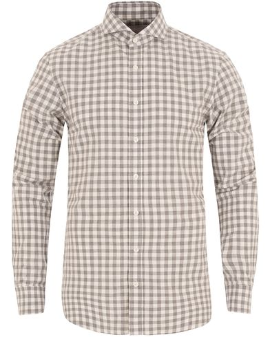 Oscar Jacobson Herman 2 Flannel Check Shirt Grey i gruppen Skjortor / Flanellskjortor hos Care of Carl (13260411r)