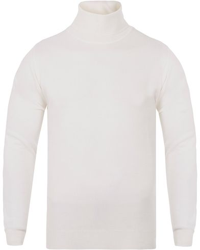 Oscar Jacobson Cole Extra Fine Merino Polo Off White i gruppen Tröjor / Polotröjor hos Care of Carl (13261411r)