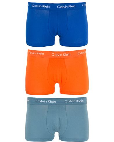Calvin Klein Cotton Stretch Trunk 3-pack Blue/Orange/Blue i gruppen Kläder / Underkläder / Kalsonger hos Care of Carl (13262011r)