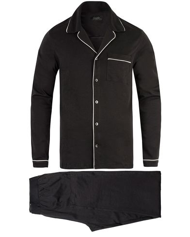 Calvin Klein Elegant Cotton Pyjama Set Black i gruppen Kläder / Underkläder / Pyjamas / Pyjamasset hos Care of Carl (13263711r)
