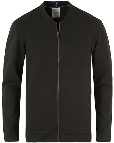 Calvin Klein Quilted Zip Sweater Black i gruppen Design B / Kläder / Tröjor / Zip-tröjor hos Care of Carl (13263811r)