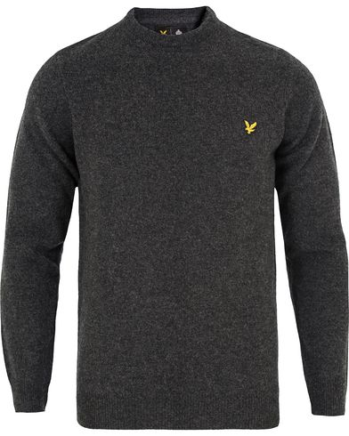 Lyle & Scott Lambswool Crew Neck Pullover Charcoal Marl i gruppen Tröjor / Pullovers / Rundhalsade pullovers hos Care of Carl (13265511r)