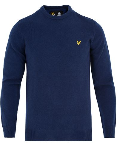 Lyle & Scott Lambswool Crew Neck Pullover Navy i gruppen Tröjor / Pullovers / Rundhalsade pullovers hos Care of Carl (13265711r)