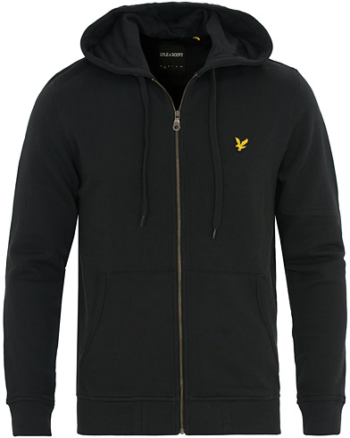 Lyle & Scott Zip Through Hoodie True Black i gruppen Gensere / Hettegensere hos Care of Carl (13266411r)