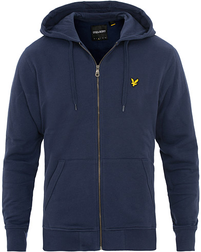 Lyle & Scott Zip Through Hoodie Navy i gruppen Kläder / Tröjor hos Care of Carl (13266511r)